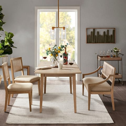 INK+IVY Kelly Light Brown Rectangle Dining Table - Light brown