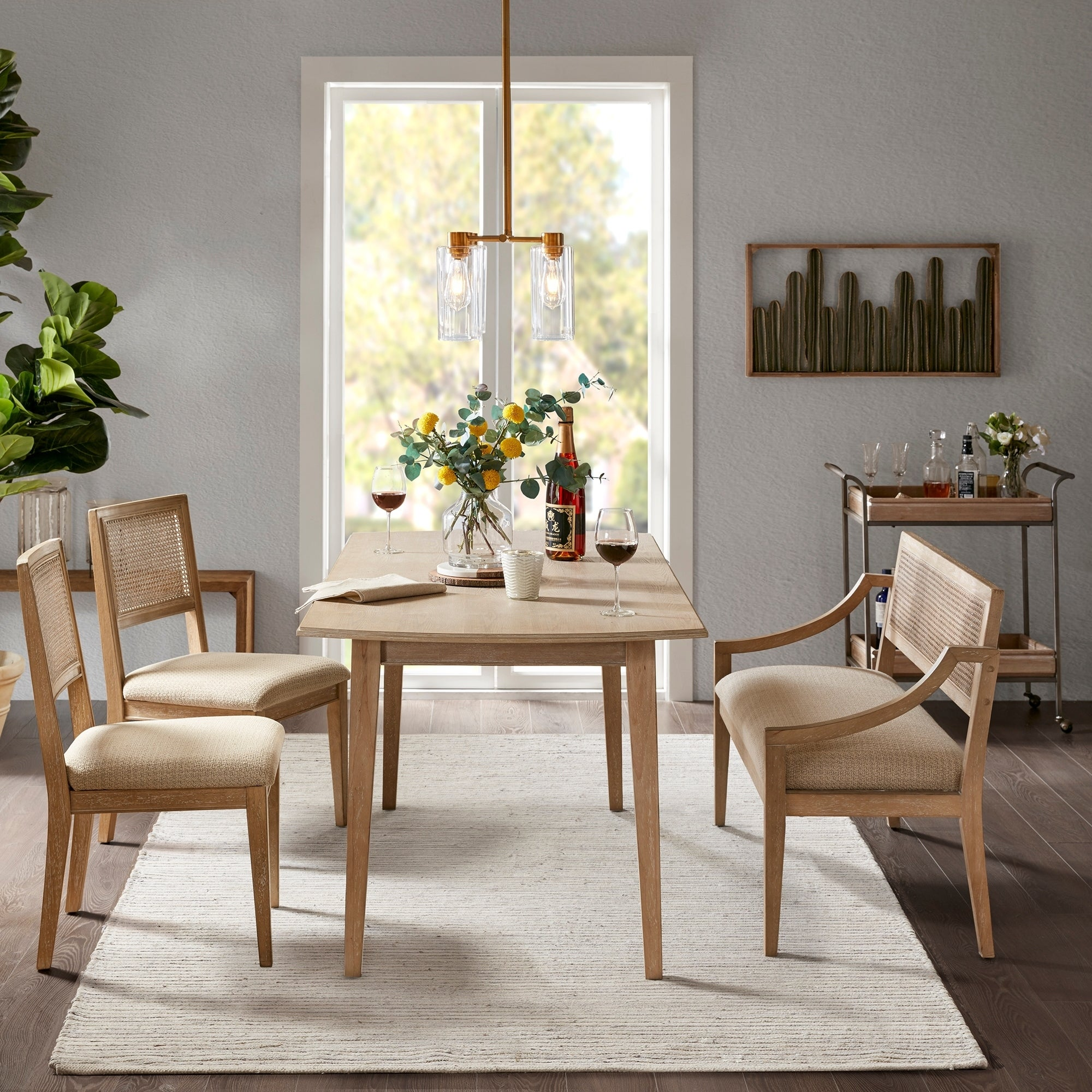 INK+IVY Kelly Light Brown Rectangle Dining Table - Light brown - 69w x 34d x 30h