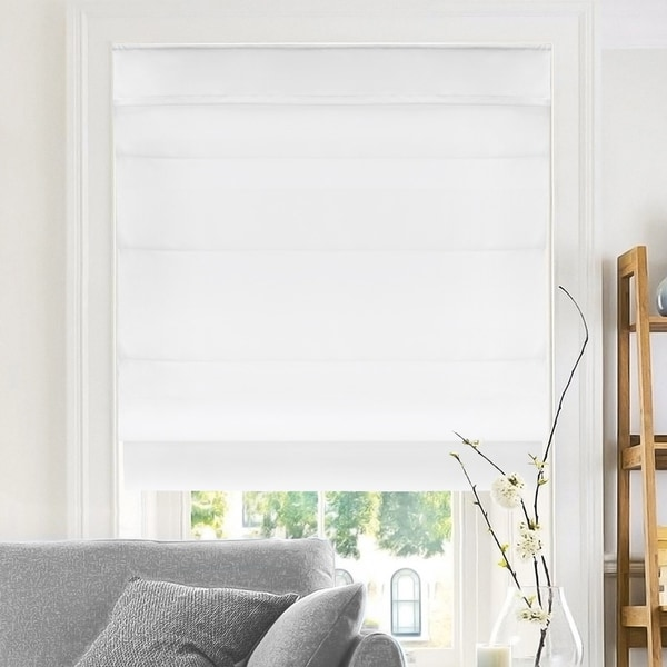 Chicology Belgian Snow Cordless Roman Shades (As Is Item). Opens flyout.