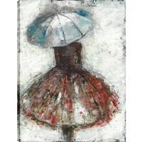 Anastasia C. 'The Umbrella Girl' Gallery-wrapped Canvas Wall Art Decor