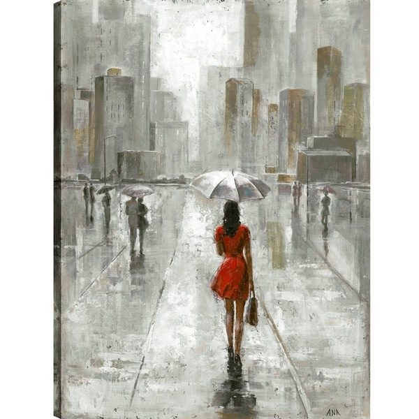 The Umbrella Girl III, Contemporary Art, Fresh Printed Canvas Wall ...