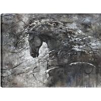Anastasia C. 'Horse Love I' Multicolored Gallery-wrapped Animal Canvas Wall Art Decor