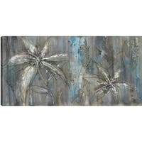 Anastasia C. 'Flowery' Gallery-wrapped Canvas Floral Wall Art Decor