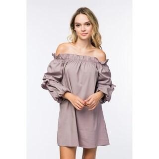 Olivia Pratt Puffy Tiered Sleeve Dress