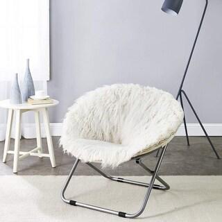 Faux Fur Moon Chair - Polar White