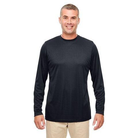 UltraClub mens UltraClub Men's Cool & Dry Performance Long-Sleeve Top - ROYAL - 6XL (8622)