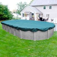 Shop blue wave oval leaf net above ground pool cover - Above ground oval swimming pools for sale ...