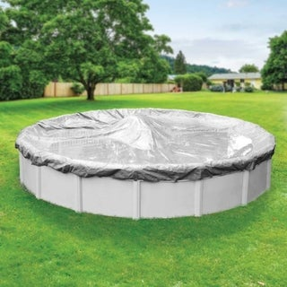 Pool Mate Platinum Silver Winter Cover for Round Above-Ground Swimming Pools