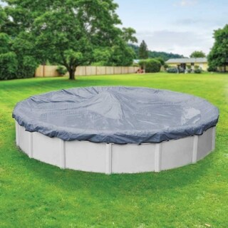 Pool Mate Commercial-Grade Slate Blue Winter Cover for Round Above-Ground Swimming Pools