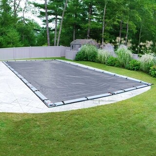 Pool Mate Commercial-Grade Slate Blue Winter Cover for In-Ground Swimming Pools