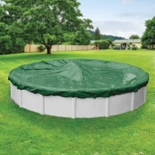 Pool Mate Commercial-Grade Rip-Shield Green Winter Cover for Round Above-Ground Swimming Pools