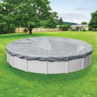 Pool Mate 20-Year Premium Dove Gray Winter Cover for Round Above-Ground Swimming Pools