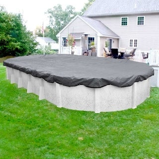 Pool Mate 20-Year Premium Dove Gray Winter Cover for Oval Above-Ground Swimming Pools