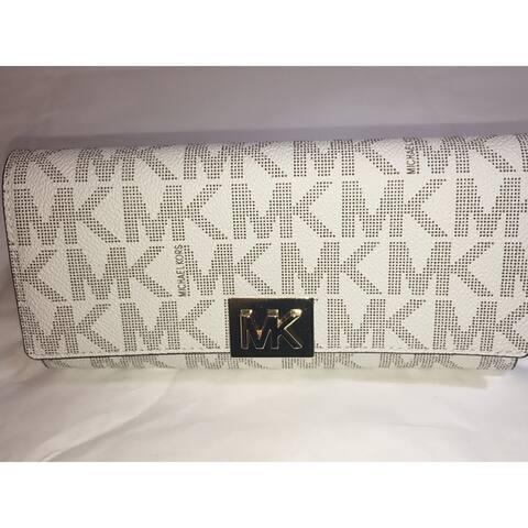 Michael Kors Mindy Carryall PVC Flap Wallet Clutch