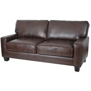 Truly Home Andrew Chestnut Upholstered 73-inch Sofa