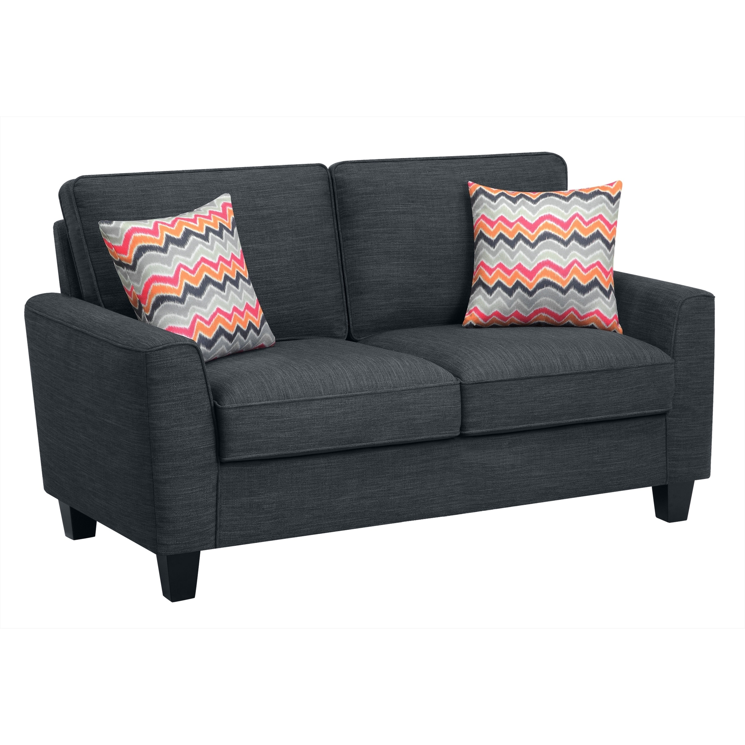 Truly Home Alan Compact Charcoal Loveseat