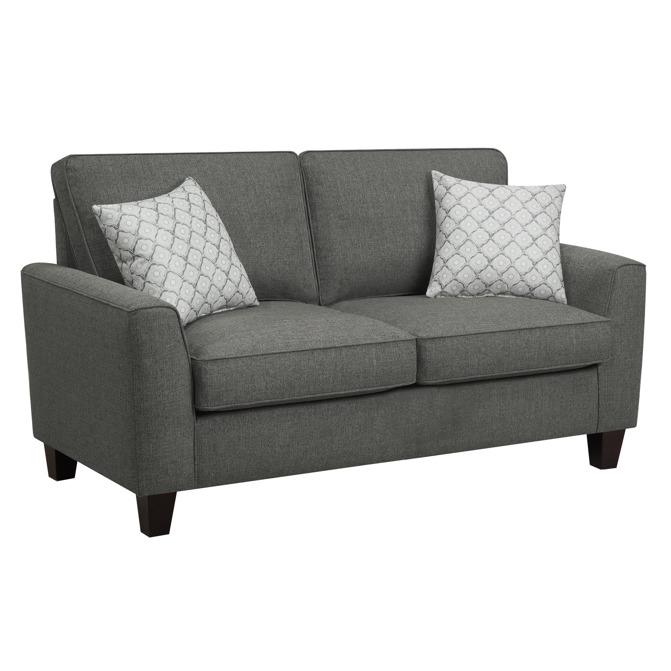 Alan Dark Grey Hardwood 61-inch Loveseat