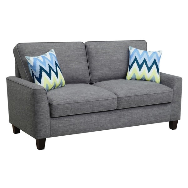 Truly Home Alan Light Grey Microfiber Sofa