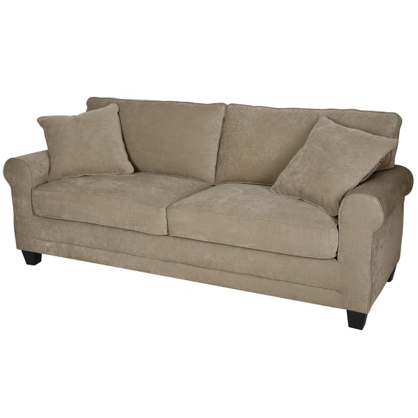 Shop Whitney Tan 73 Inch Sofa Free Shipping Today Overstockcom