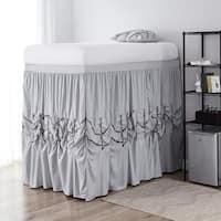 Alexandra Bed Skirt Panel with Ties - Glacier Gray (3 Panel Set)