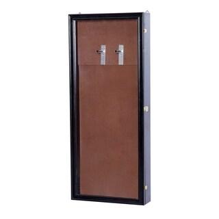 HomCom Lockable Guitar Security Shadow Box Display Case - Black