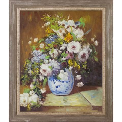 Pierre-Auguste Renoir 'Grande Vase Di Fiori' Hand Painted Oil Reproduction