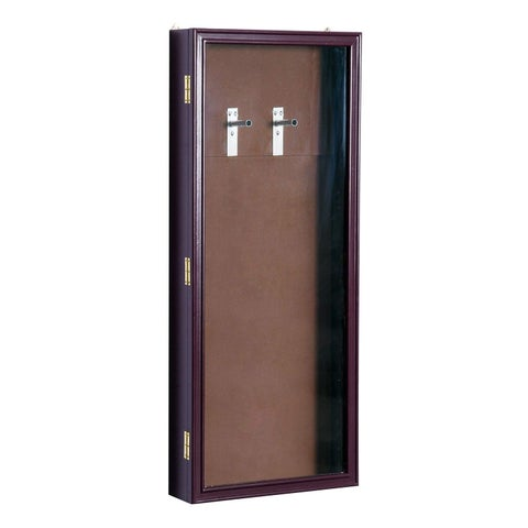 HomCom Lockable Guitar Security Shadow Box Display Case - Brown