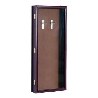 HomCom Lockable Guitar Security Shadow Box Display Case - Brown