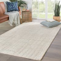"Clancy Handmade Solid Turquoise/ Ivory Area Rug - 7'9"" x 9'9"""