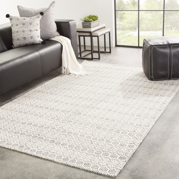Shop Juniper Home Railay Handmade Trellis White Grey Wool