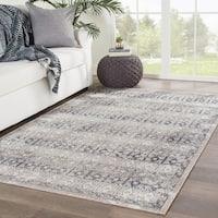 Juniper Home Barton Grey/Ivory Indoor/Outdoor Trellis Area Rug (7'6 x 9'6)