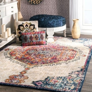 nuLOOM Multi Transitional Medallion Area Rug - 12' x 15'