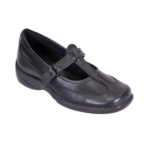 24 HOUR COMFORT Renee Women Wide Width T-Strap Hook and Loop Shoes