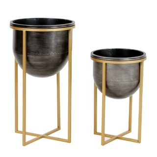 Rizzy Mid Century Planters (Set of 2)