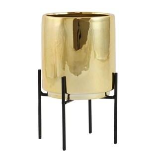 Jodi Mid Century Table-top Planter - Gold