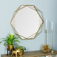 Suzie Gold Metal Frame Wall Mirror