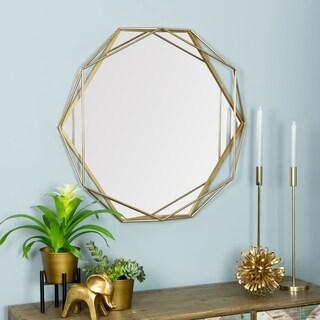 Suzie Goldtone Metal Frame Wall Mirror