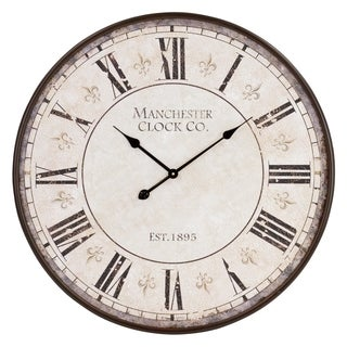 Valerie Large Round Wall Clock - N/A