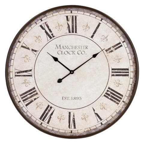 """Valerie Large Round Wall Clock - 30""""H x 30""""W x 2""""D"""