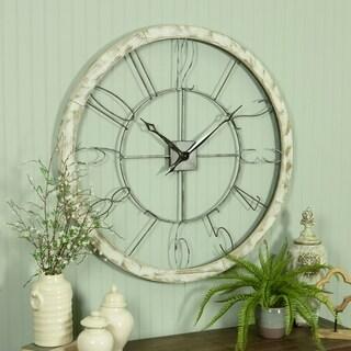 Penelope Iron and Wood Large Wall Clock