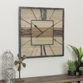 Travis Wood & Metal Wall Clock - N/A