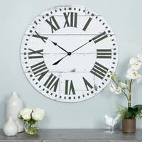 Lisette French Country Wall Clock with Shiplap Face