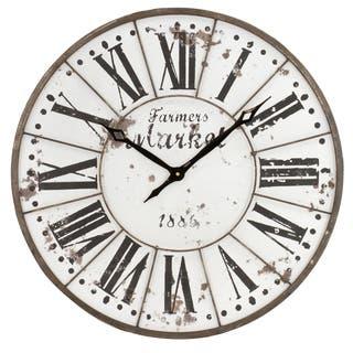 Monroy Rustic Farmhouse Wall Clock