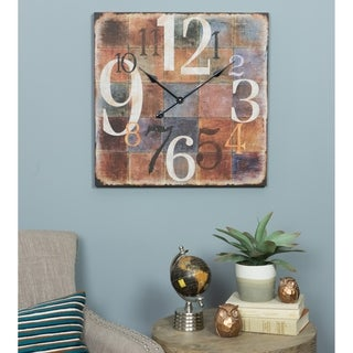 Wesley Square Wall Clock - N/A