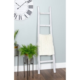 """Link to Dora 5 ft Decorative Ladder - White Finish - 59.5""""H x 16""""W x 2""""D Similar Items in Bathroom Furniture"""