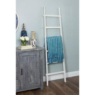 Bambala 6 ft Decorative Ladder - White Finish - N/A
