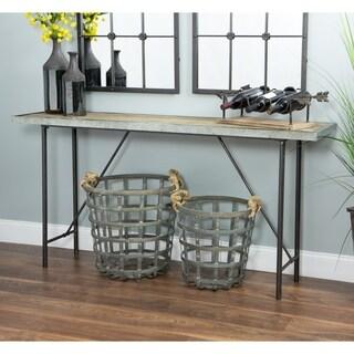 Malvern Modern Farmhouse Capuccino Wood Console Table