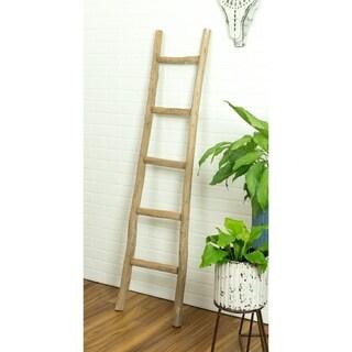 Dora 5 ft Decorative Ladder - Walnut Finish