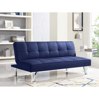 Serta Charlie Blue Fabric Convertible Sofa