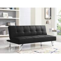 Serta Charlie Black Convertible Sofa
